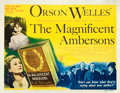 "Movie Posters:Drama, The Magnificent Ambersons (RKO, 1942). Title Lobby Card (11"" X14"").. ..."