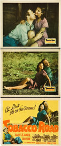 """Movie Posters:Drama, Tobacco Road (20th Century Fox, 1941). Title Lobby Card and SceneCards (2) (11"""" X 14"""").. ... (Total: 3 Items)"""