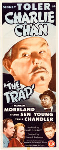 "Movie Posters:Mystery, The Trap (Monogram, 1946). Insert (14"" X 36"").. ..."