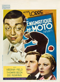"Think Fast, Mr. Moto (20th Century Fox, 1937). Pre-War Belgian (24"" X 33"")"