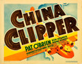 "Movie Posters:Drama, China Clipper (Warner Brothers, 1936). Title Lobby Card (11"" X14"").. ..."