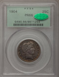 Proof Barber Quarters, 1904 25C PR66 PCGS. CAC....