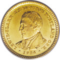 Commemorative Gold: , 1904 G$1 Lewis and Clark MS63 PCGS. Radiant canary-yellow prooflikefields complement the deeper tinges of orange-gold on t...