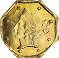 California Fractional Gold: , 1853 $1 Liberty Octagonal 1 Dollar, BG-518, R.5, MS62 PCGS. Fulldollar-sized California private gold issues from the origi...