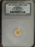California Fractional Gold: , 1880 25C Indian Octagonal 25 Cents, BG-799X, R.3--Bent, Holed--NCS,Unc. Details, bent horizontally beneath the Indian's ea... (Total:2 Coins)