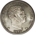 Coins of Hawaii: , 1883 $1 Hawaii Dollar MS62 PCGS. The sizable Hawaii dollarssustained the greatest rate of at...