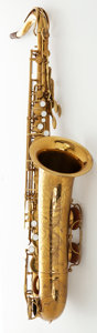 Musical Instruments:Horns & Wind Instruments, Circa 1957 The Martin Brass Tenor Saxophone, Serial #198216....