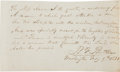 """Autographs:Statesmen, Attorney General Benjamin F. Butler Autograph Quote Signed """"B.F. Butler""""...."""