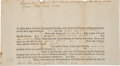 "Autographs:Statesmen, Josiah Bartlett Autograph Document Signed ""Josiah Bartlett""...."