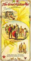 """Movie Posters:Documentary, The Great Mexican War (El Paso Feature Film Company, 1914). Three Sheet (41"""" X 80"""").. ..."""