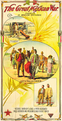 "The Great Mexican War (El Paso Feature Film Company, 1914). Three Sheet (41"" X 80"")"