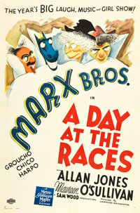 "A Day At The Races (MGM, 1937). One Sheet (27"" X 41""). Style D"
