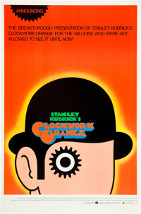 "A Clockwork Orange (Warner Brothers, 1971). Alternate One Sheet (27"" X 41"")"