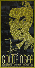 "Movie Posters:James Bond, Goldfinger (Alamo Drafthouse, R-2007). Limited Edition Print. (l7.75"" X 33.75""). ..."