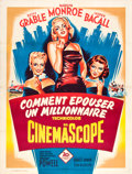 "Movie Posters:Comedy, How to Marry a Millionaire (20th Century Fox, R-1950s). FrenchGrande (47"" X 63"").. ..."