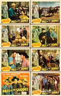 "Movie Posters:Western, Pals of the Saddle (Republic, 1938). Lobby Card Set of 8 (11"" X14"").. ... (Total: 8 Items)"