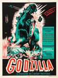 "Movie Posters:Science Fiction, Godzilla (Trans World, 1956). French Affiche (23.5"" X 31.5"").. ..."