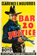 "Movie Posters:Western, Bar 20 Justice (Paramount, 1938). One Sheet (27"" X 41"").. ..."