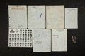 Baseball Collectibles:Others, 1969 Baseball and Basketball Team Signed Sheets Lot of 7....