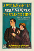 "Movie Posters:Crime, The Splendid Crime (Paramount, 1925). One Sheet (27"" X 41"").. ..."