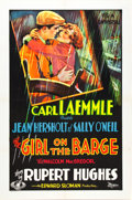 "Movie Posters:Drama, The Girl on the Barge (Universal, 1929). One Sheet (27"" X 41"")....."