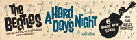 """A Hard Day's Night (United Artists, 1964). Banner (24"""" X 82"""")"""