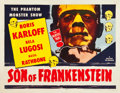 "Son of Frankenstein (Realart, R-1953). Half Sheet (22"" X 28"")"