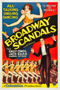 """Movie Posters:Musical, Broadway Scandals (Columbia, 1929). One Sheet (27"""" X 41"""").. ..."""