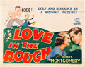 """Movie Posters:Comedy, Love in the Rough (MGM, 1930). Half Sheet (22"""" X 28"""").. ..."""