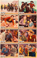 "Movie Posters:Western, Sunset Pass (Paramount, 1933). Lobby Card Set of 8 (11"" X 14"")..... (Total: 8 Items)"