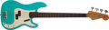 Musical Instruments:Bass Guitars, 1963 Fender Precision Bass Refinished Turquoise Electric Bass Guitar, #L00467. ...