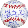 Baseball Collectibles:Balls, 2010 Texas Rangers Team Signed Baseball (35 Signatures). ...