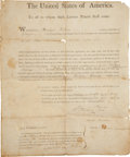 Autographs:U.S. Presidents, George Washington: U.S. Patent Signed...