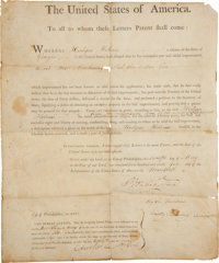 George Washington: U.S. Patent Signed
