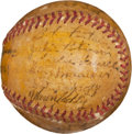 Autographs:Baseballs, 1946 Montreal Royals Team Signed Baseball with Jackie Robinson....