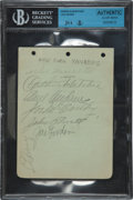 Autographs:Others, 1938 Lou Gehrig Signed Album Page....