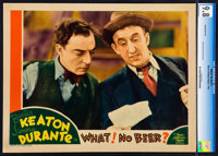 "What! No Beer? (MGM, 1933). CGC Graded Lobby Card (11"" X 14"")"