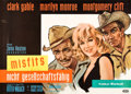"""Movie Posters:Drama, The Misfits (United Artists, 1961). German A0 (33.5"""" X 46"""").. ..."""