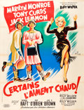 "Movie Posters:Comedy, Some Like It Hot (United Artists, 1959). French Grande (47"" X 63"")Style B.. ..."