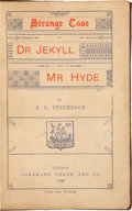 Books:Literature Pre-1900, Robert Louis Stevenson. Strange Case of Dr. Jekyll and Mr.Hyde. London. Longmans, Green, and Co., 1886.. Firs...