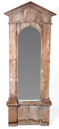 Furniture , THE COLLECTION OF PAUL GREGORY AND JANET GAYNOR. A NEOCLASSICAL-STYLE MIXED WOOD PIER MIRROR . Circa 1930. 95 x 35-1/2 x 6...