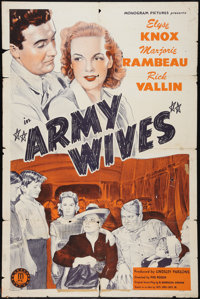 "Army Wives (Monogram, 1944). One Sheet (27"" X 41""). Romance"