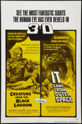"""Movie Posters:Horror, Creature From the Black Lagoon/It Came From Outer Space Combo (Universal International, R-1972). One Sheet (27"""" X 41""""). Horr..."""