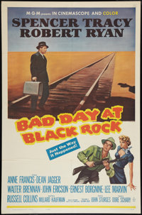 """Bad Day at Black Rock (MGM, R-1962). One Sheet (27"""" X 41""""). Thriller"""