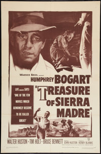 """The Treasure of the Sierra Madre (Warner Brothers, R-1953). One Sheet (27"""" X 41""""). Drama"""