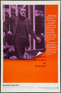 "Bullitt (Warner Brothers, 1968). One Sheet (27"" X 41""). Crime"