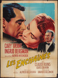 """Movie Posters:Hitchcock, Notorious (RKO, R-1958). French Grande (47"""" X 63""""). Hitchcock.. ..."""