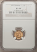 Commemorative Gold, 1916 G$1 McKinley MS66 NGC....