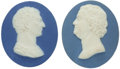 Political:3D & Other Display (pre-1896), Pair of Very Rare Portrait Medallions of George Washington and Benjamin Franklin by Josiah Wedgwood and Thomas Bentley, c. 177...