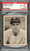 Baseball Cards:Singles (1930-1939), 1939 Play Ball Buddy Lewis #47 PSA NM-MT+ 8.5 - Pop 4, One Higher!...
